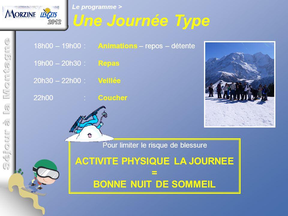 ACTIVITE PHYSIQUE LA JOURNEE