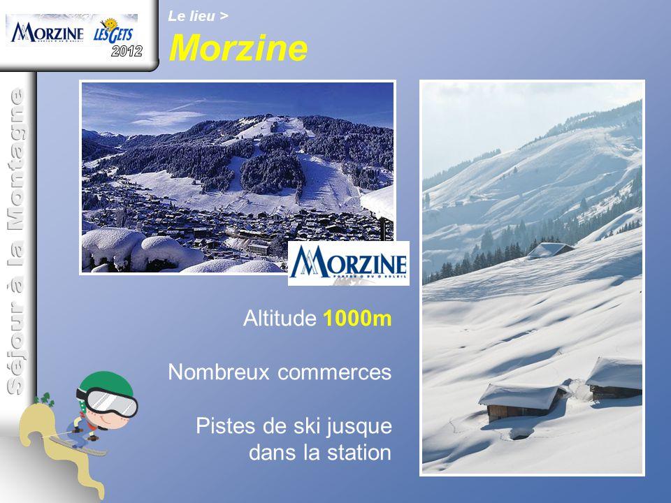 Morzine 2012 Séjour à la Montagne Altitude 1000m Nombreux commerces