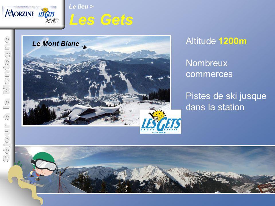 Les Gets 2012 Séjour à la Montagne Altitude 1200m Nombreux commerces