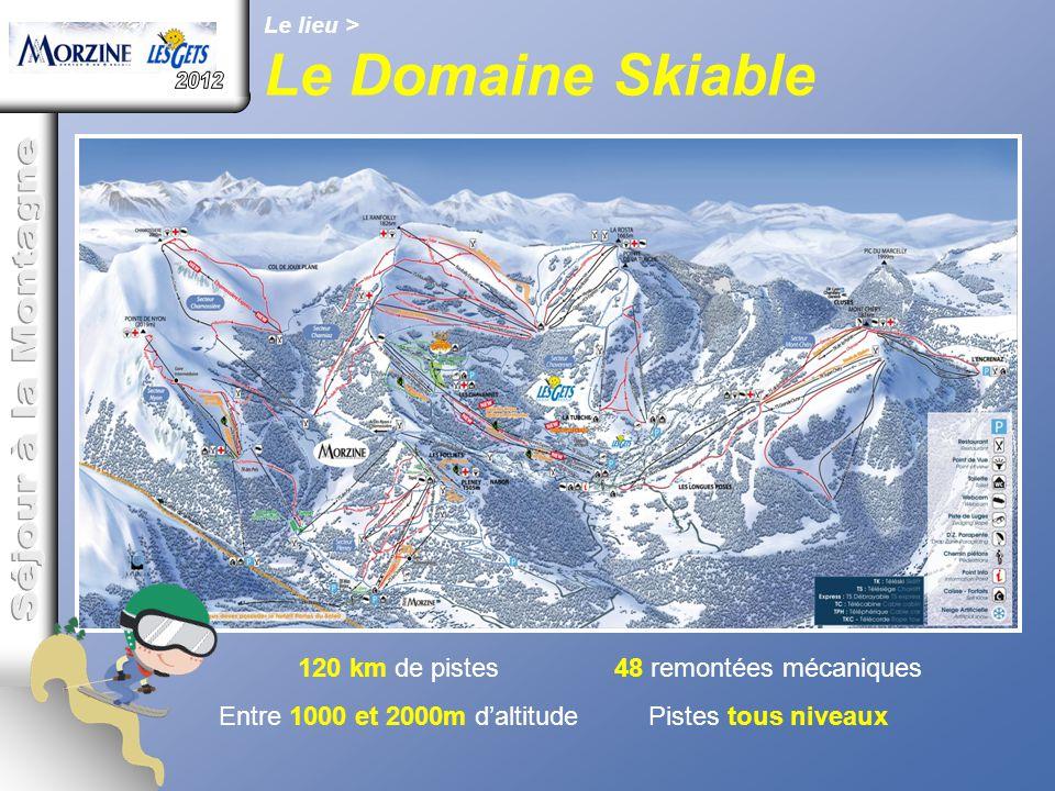 Le Domaine Skiable 2012 Séjour à la Montagne 120 km de pistes