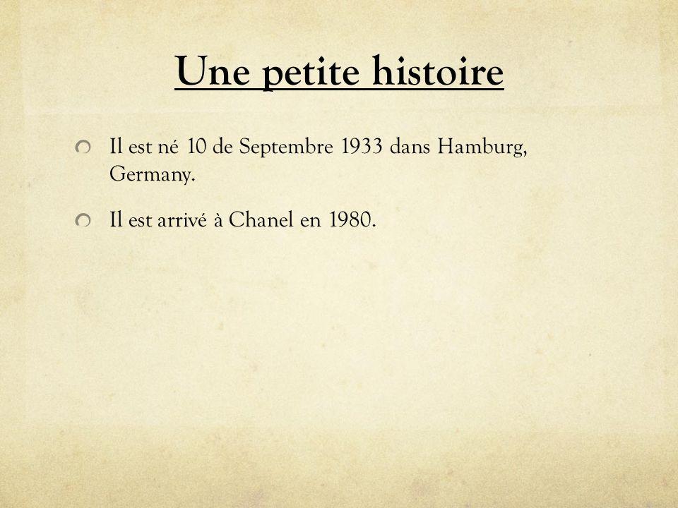 Une petite histoire Il est né 10 de Septembre 1933 dans Hamburg, Germany.