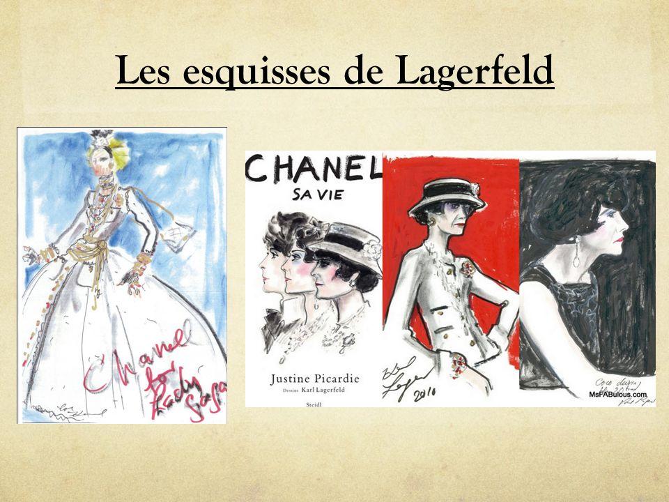 Les esquisses de Lagerfeld