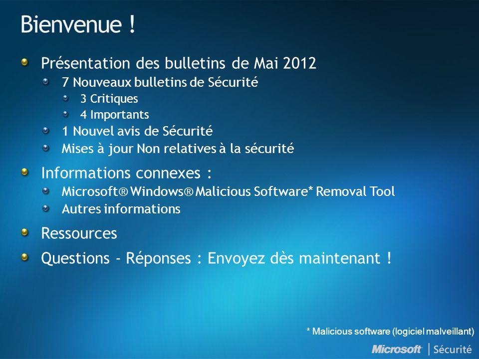 Bienvenue ! Présentation des bulletins de Mai 2012