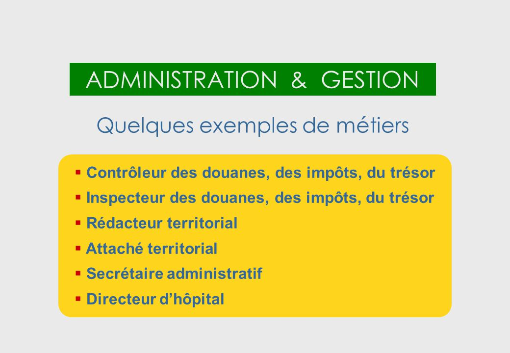 ADMINISTRATION & GESTION