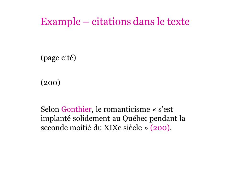 Example – citations dans le texte