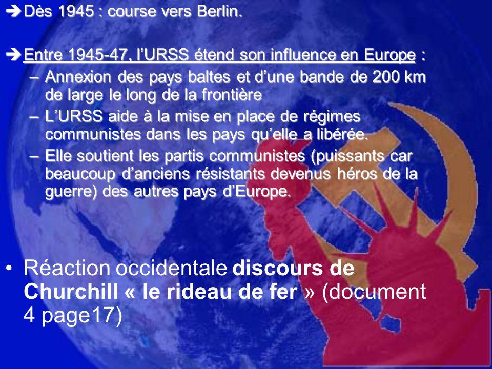 Dès 1945 : course vers Berlin.