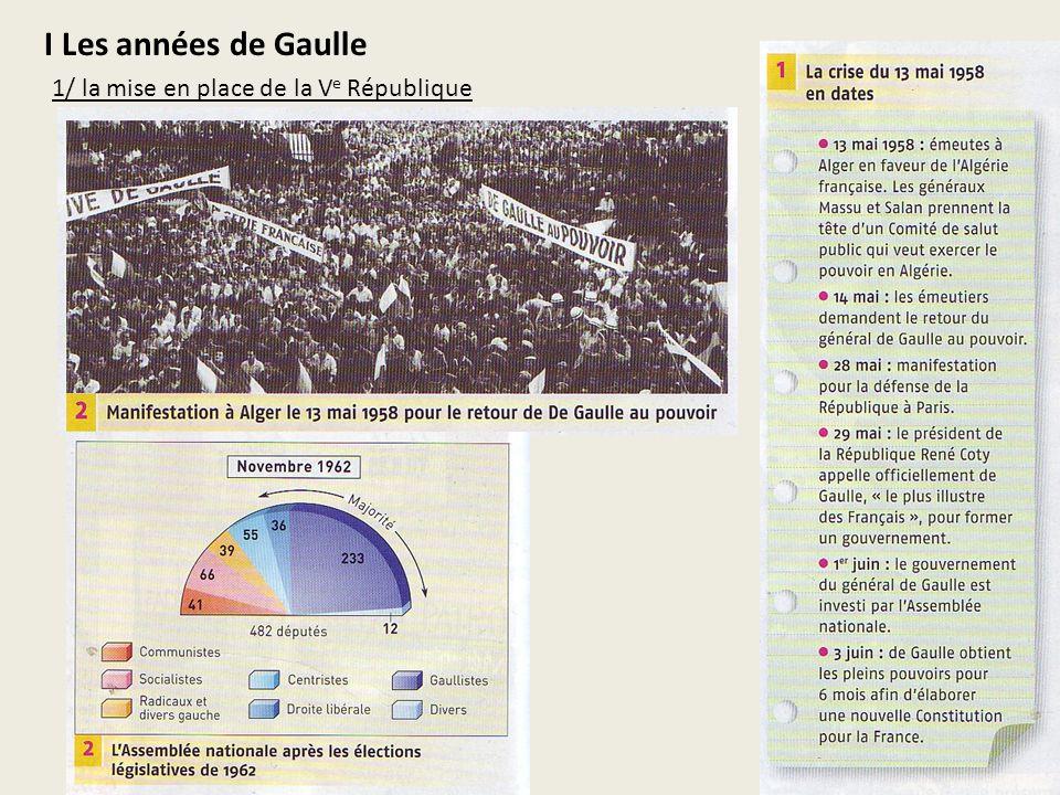 I Les années de Gaulle 1/ la mise en place de la Ve République