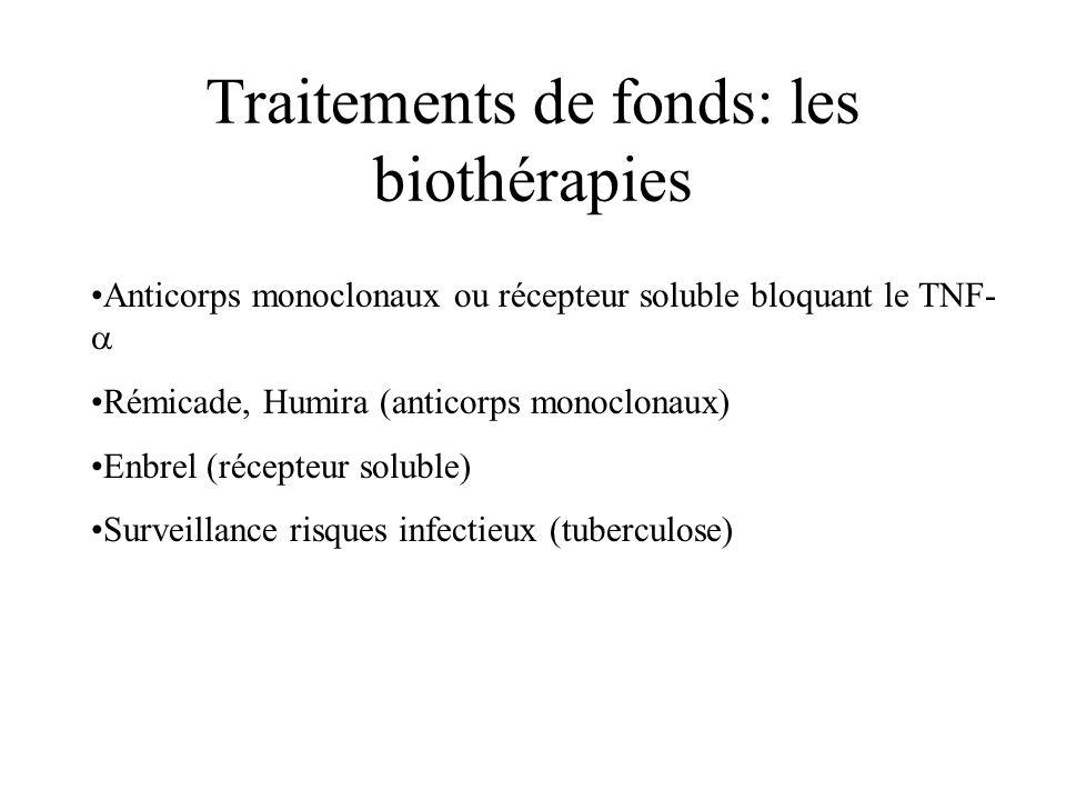 Traitements de fonds: les biothérapies