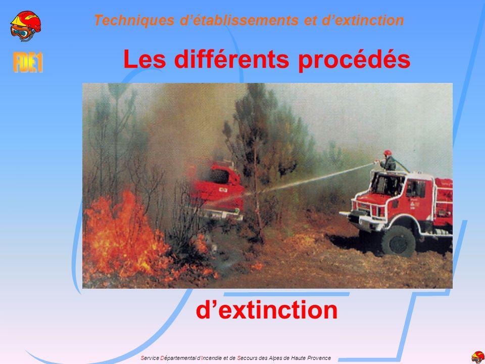 Techniques d'établissements et d'extinction Les différents procédés