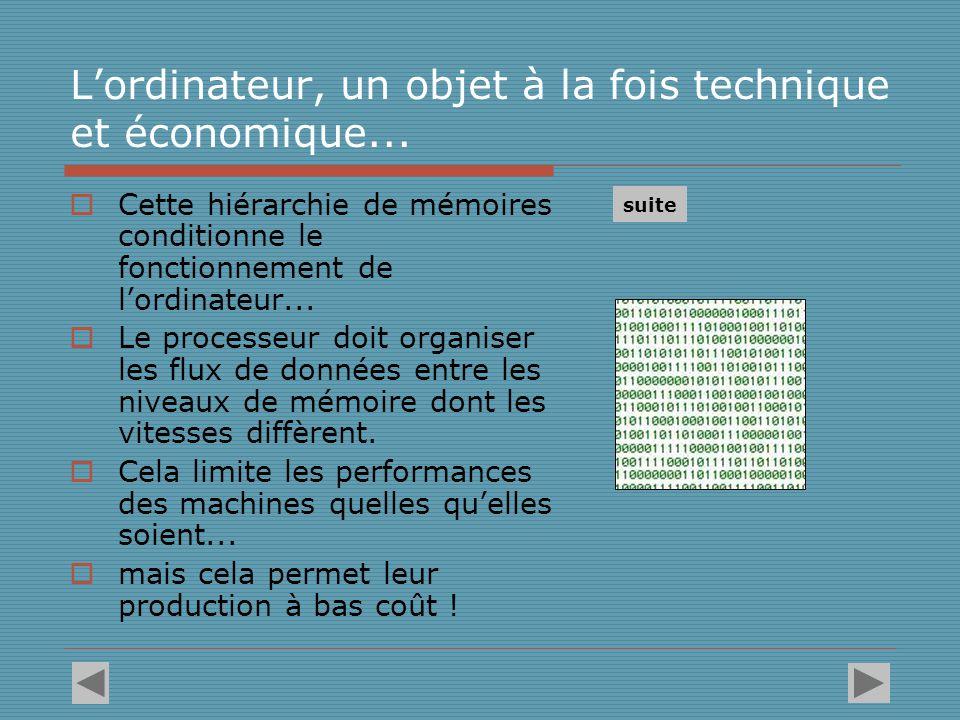 L'ordinateur, un objet à la fois technique et économique...