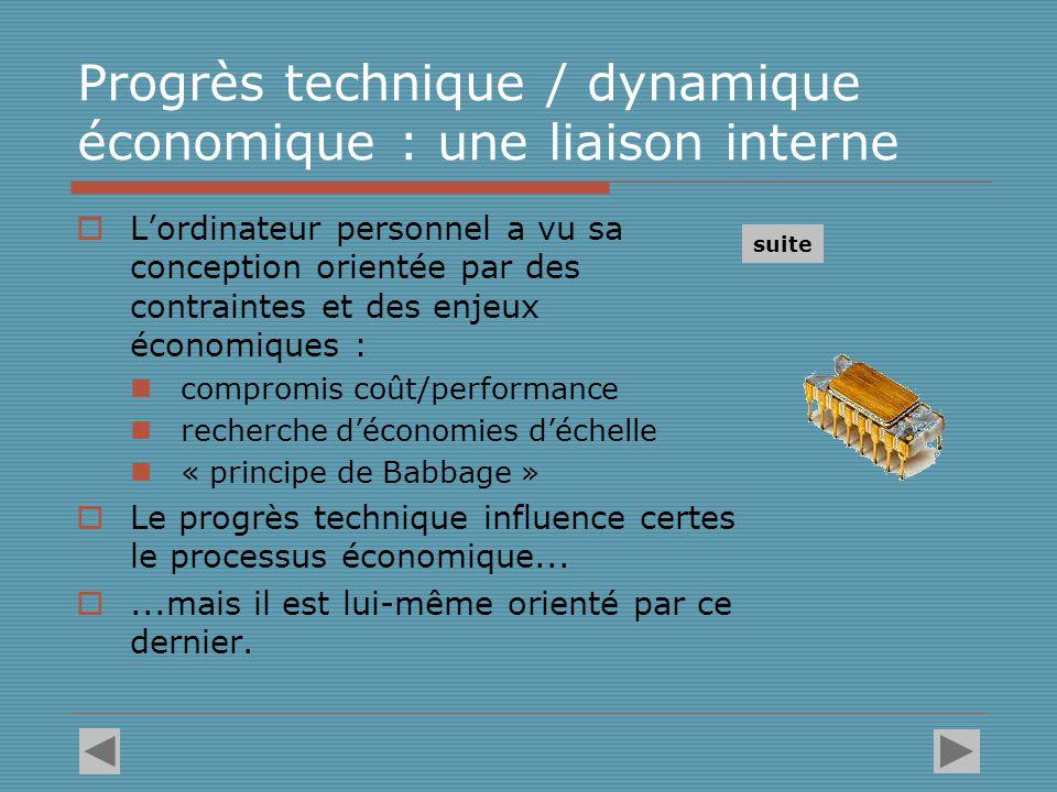 Progrès technique / dynamique économique : une liaison interne
