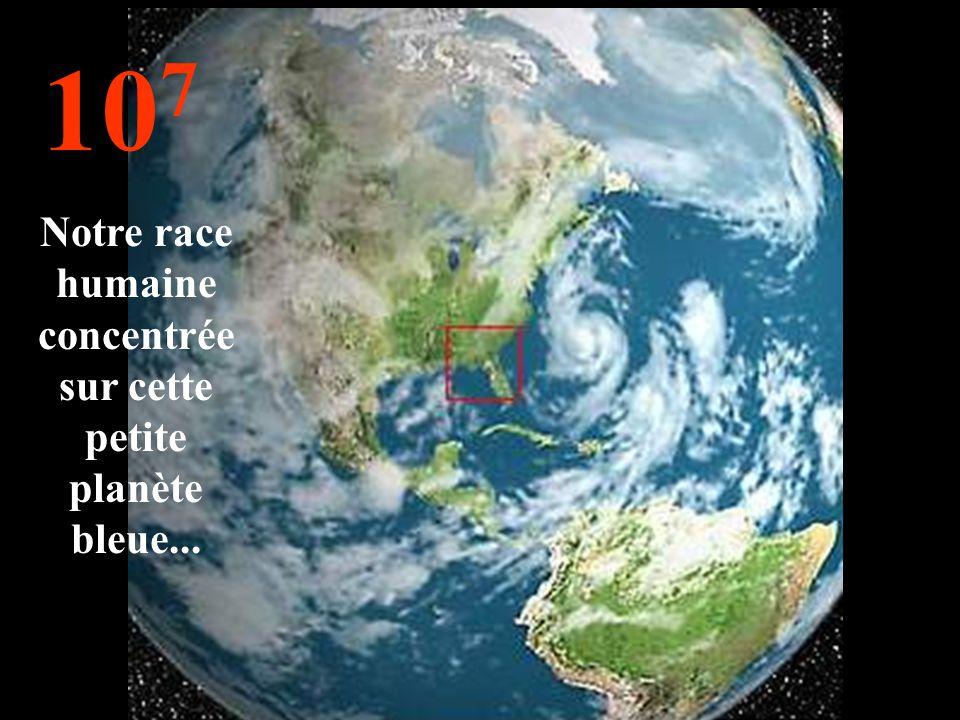 Notre race humaine concentrée sur cette petite planète bleue...