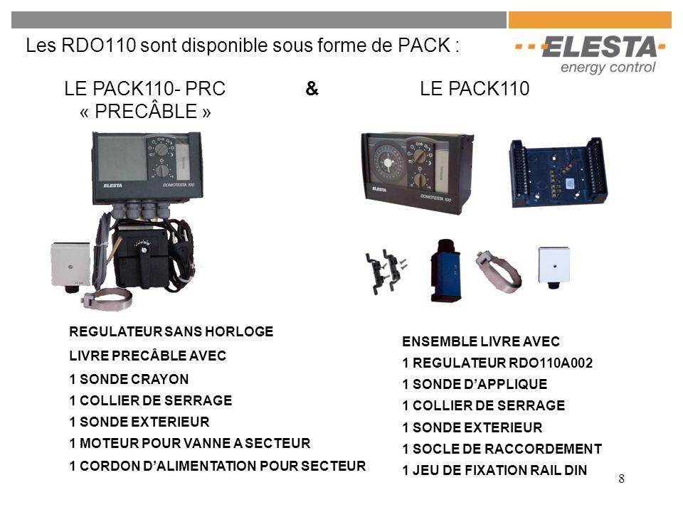 Les RDO110 sont disponible sous forme de PACK :