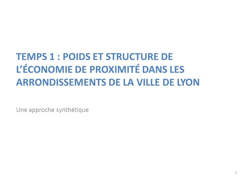 TEMPS 1 : POIDS ET STRUCTURE DE L'ÉCONOMIE DE PROXIMITÉ DANS LES ARRONDISSEMENTS DE LA VILLE DE LYON