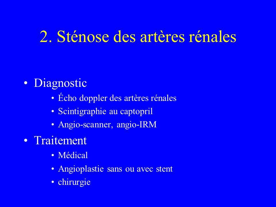 2. Sténose des artères rénales