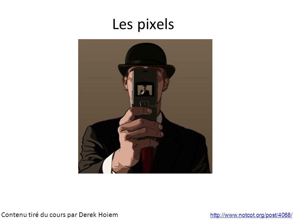 Les pixels Contenu tiré du cours par Derek Hoiem