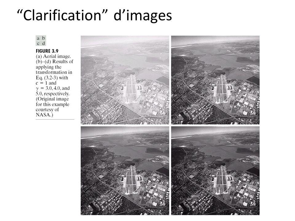 Clarification d'images