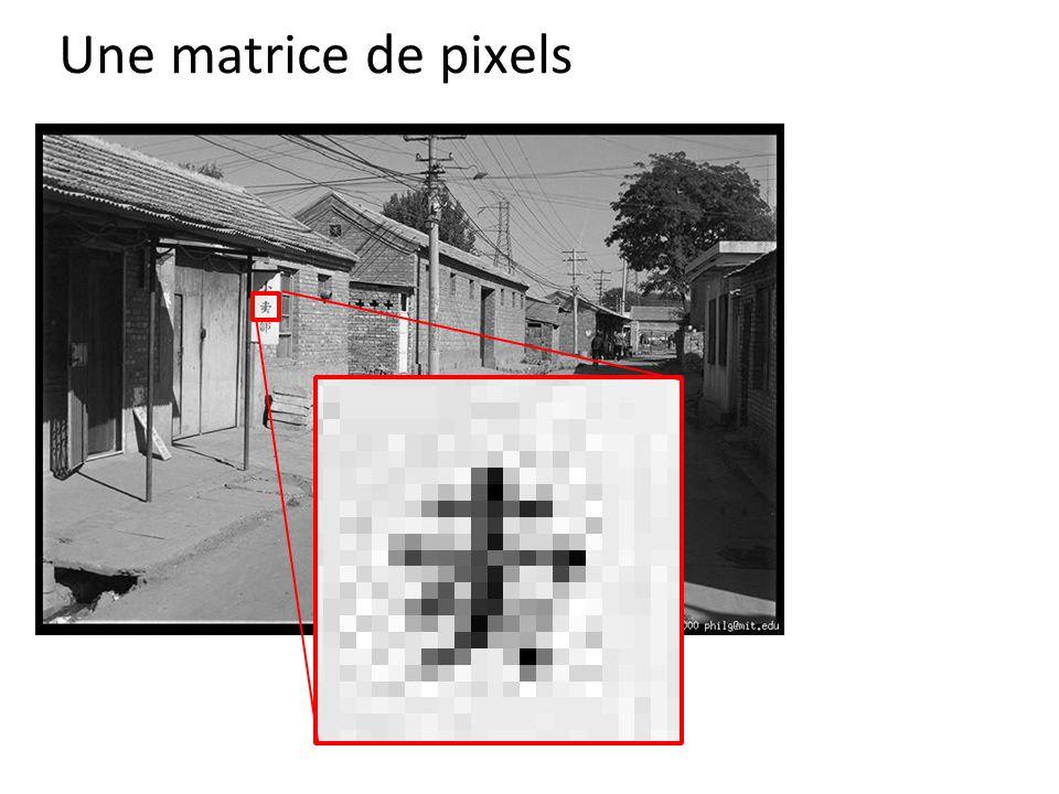 Une matrice de pixels