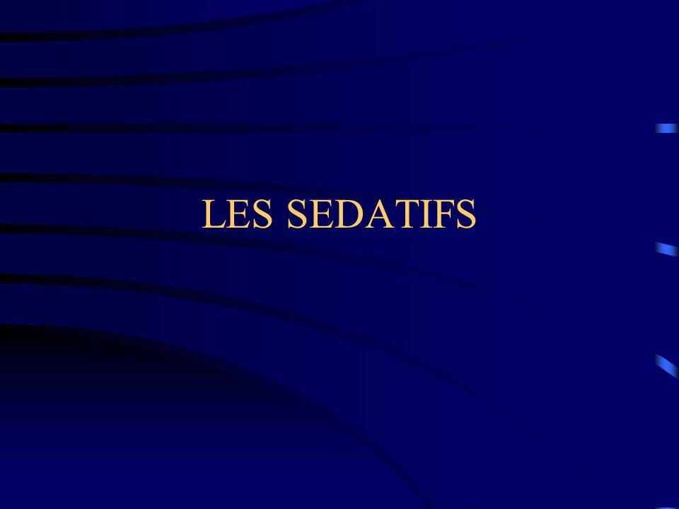 LES SEDATIFS