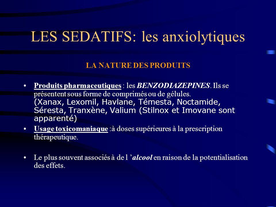 LES SEDATIFS: les anxiolytiques