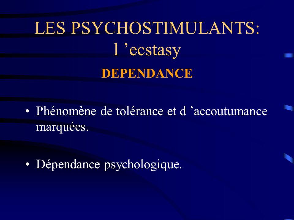 LES PSYCHOSTIMULANTS: l 'ecstasy