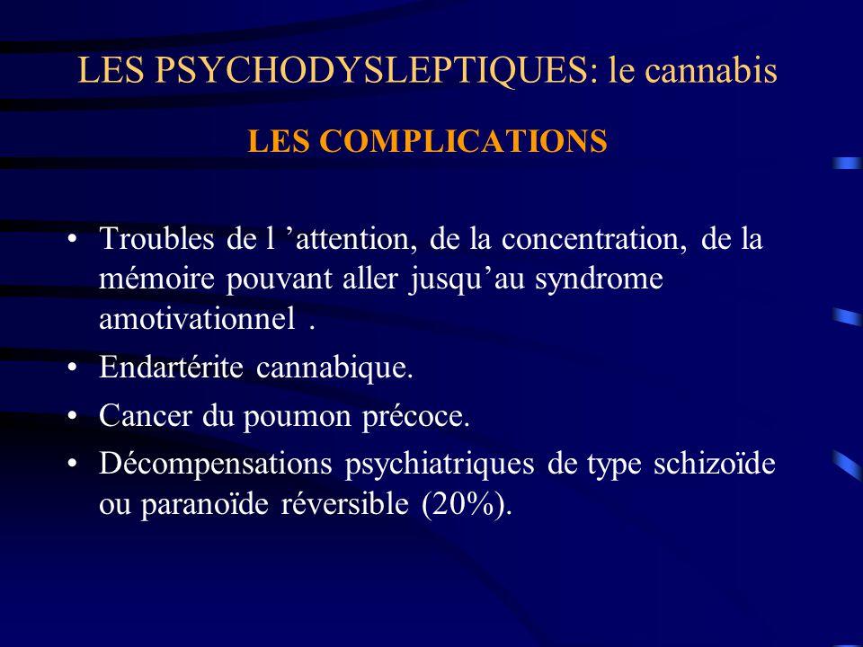 LES PSYCHODYSLEPTIQUES: le cannabis