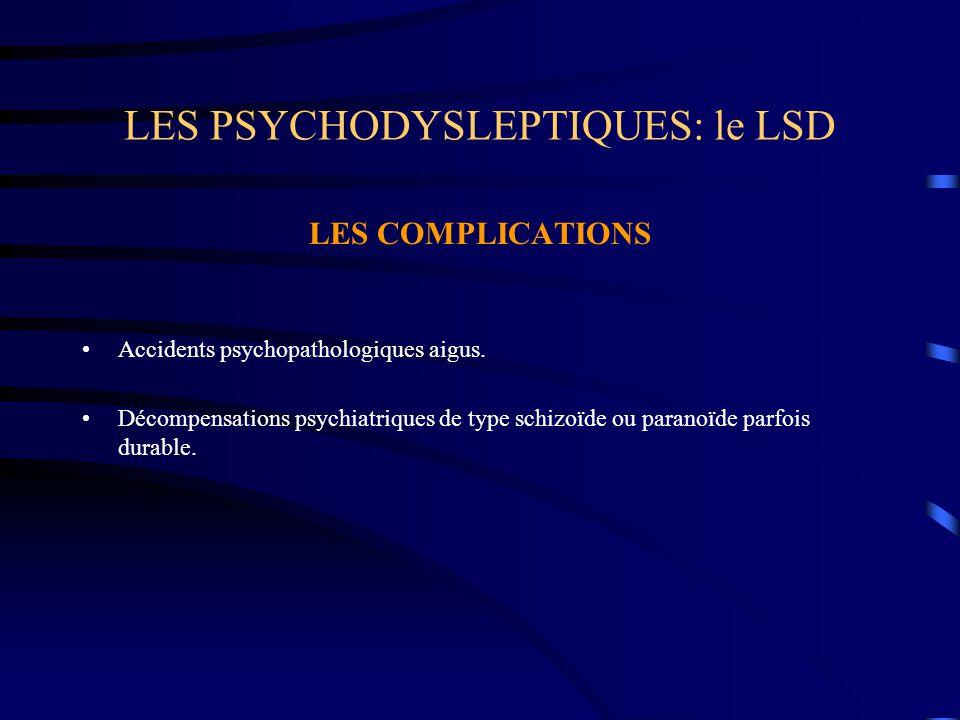 LES PSYCHODYSLEPTIQUES: le LSD