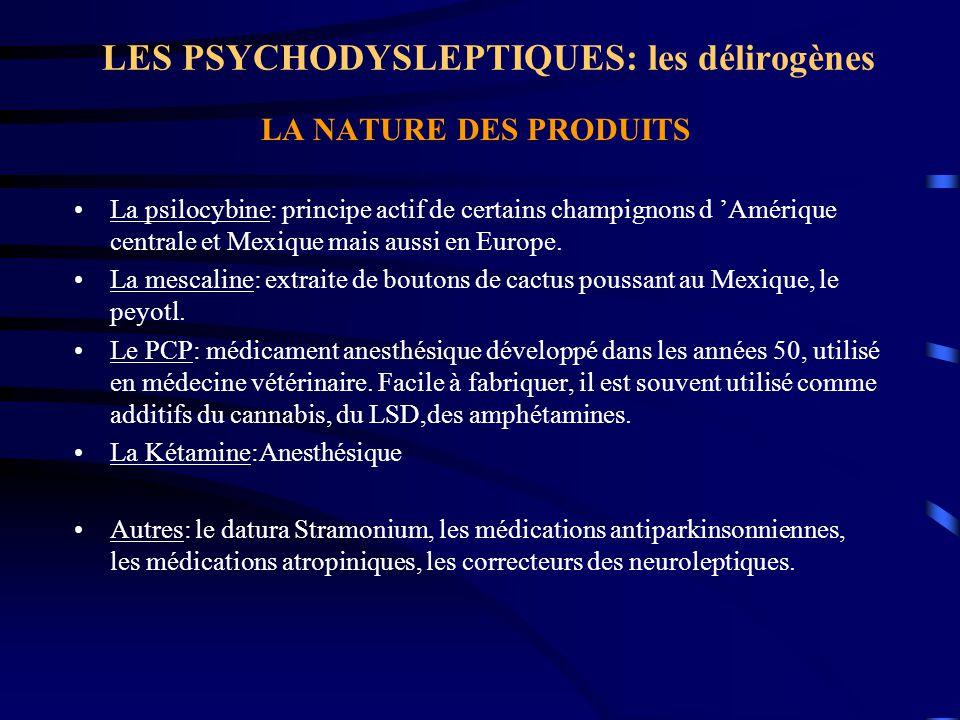 LES PSYCHODYSLEPTIQUES: les délirogènes