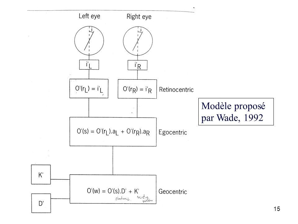 Modèle proposé par Wade, 1992