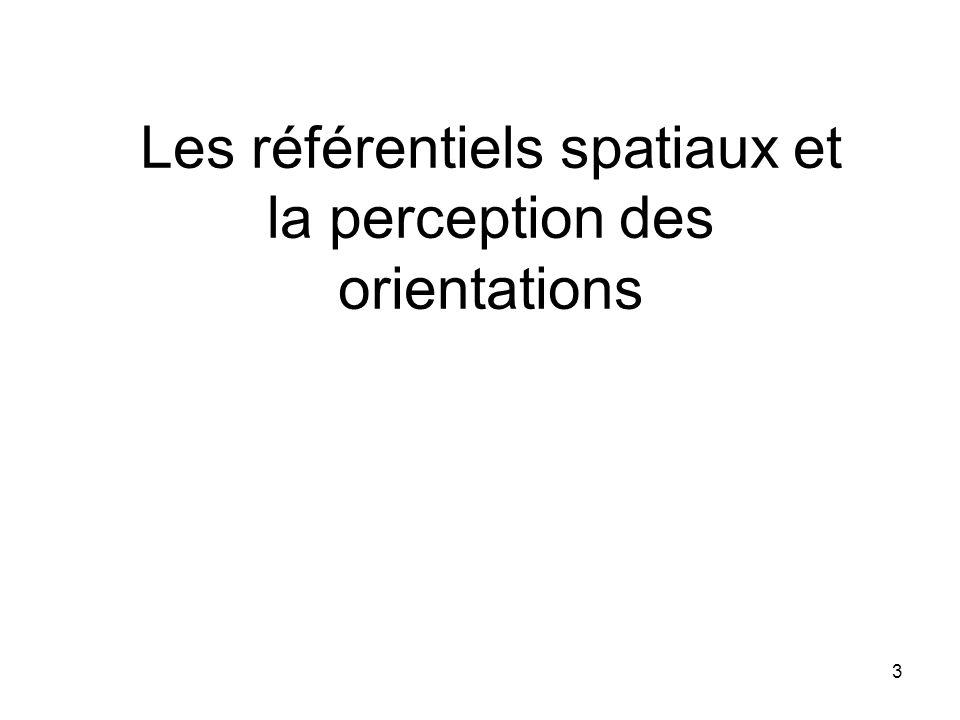 Les référentiels spatiaux et la perception des orientations