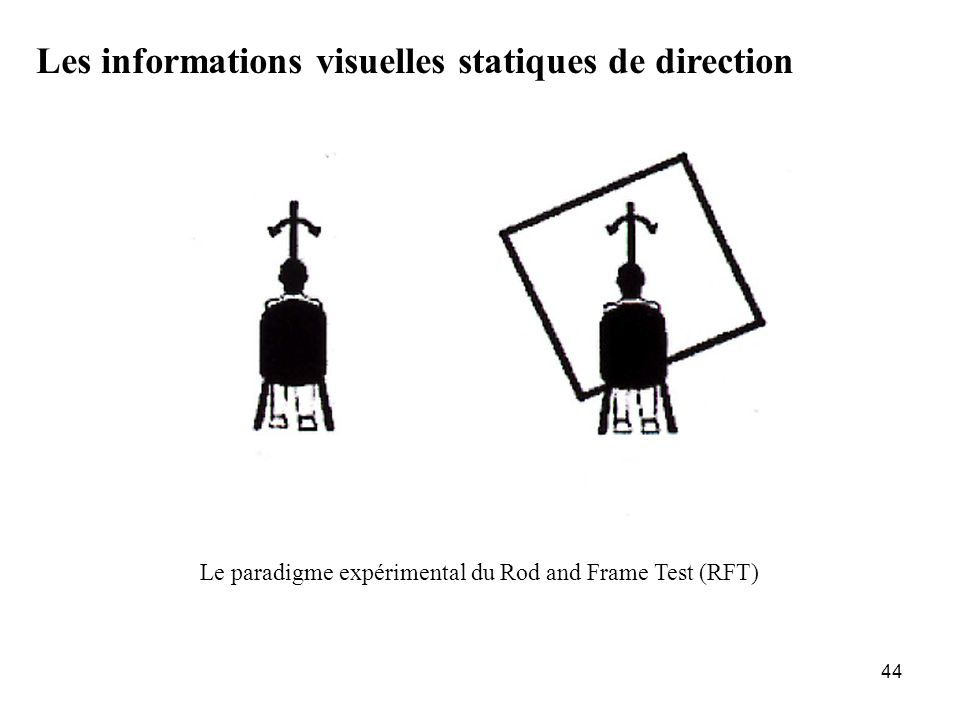 Le paradigme expérimental du Rod and Frame Test (RFT)