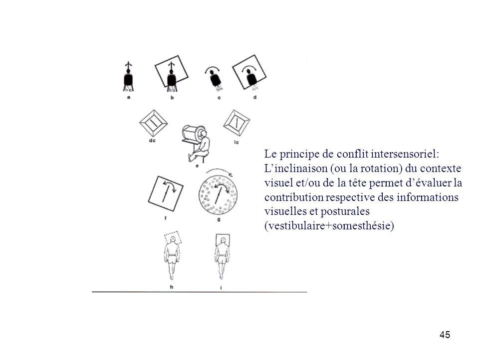 Le principe de conflit intersensoriel: