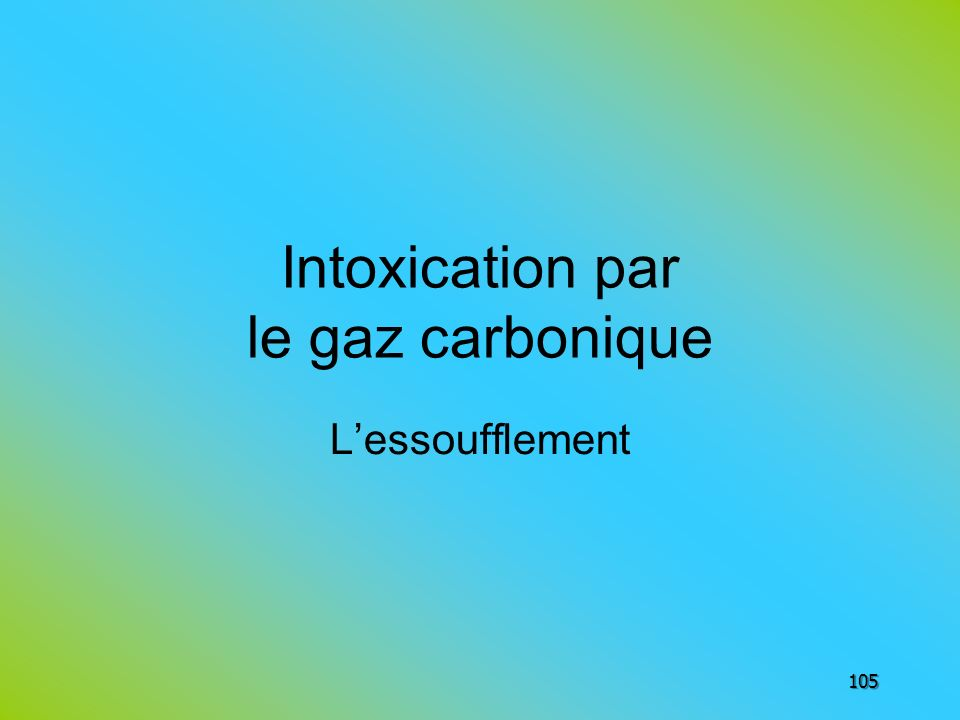 Intoxication par le gaz carbonique