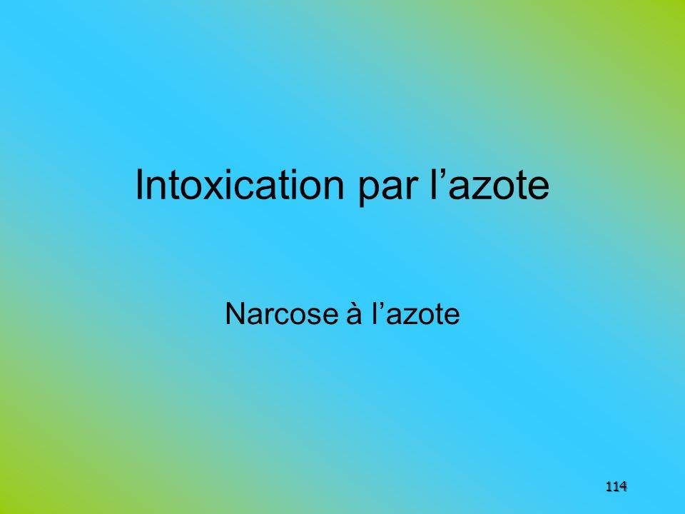 Intoxication par l'azote