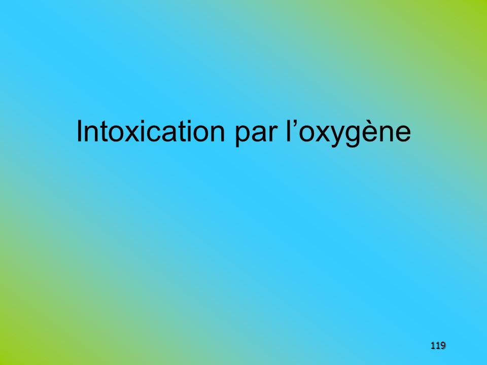 Intoxication par l'oxygène
