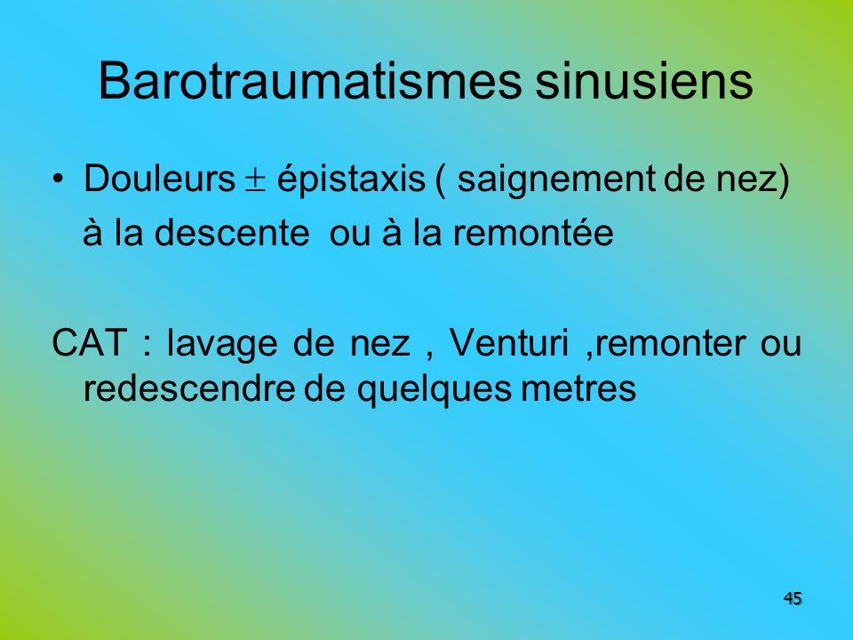 Barotraumatismes sinusiens