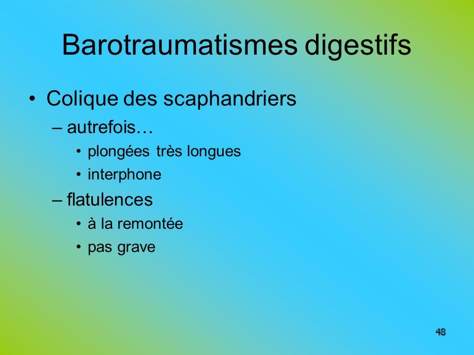Barotraumatismes digestifs