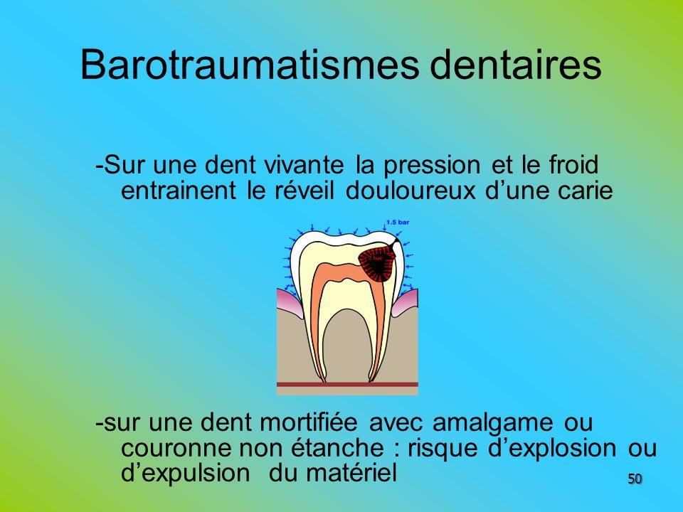 Barotraumatismes dentaires