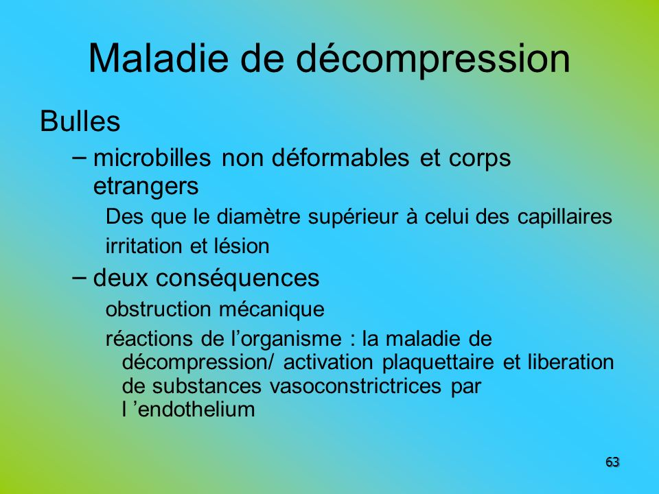 Maladie de décompression