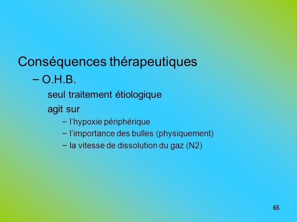 Conséquences thérapeutiques