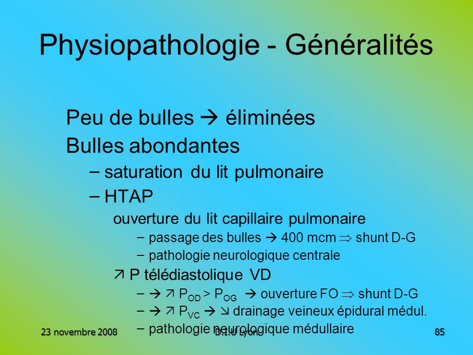 Physiopathologie - Généralités