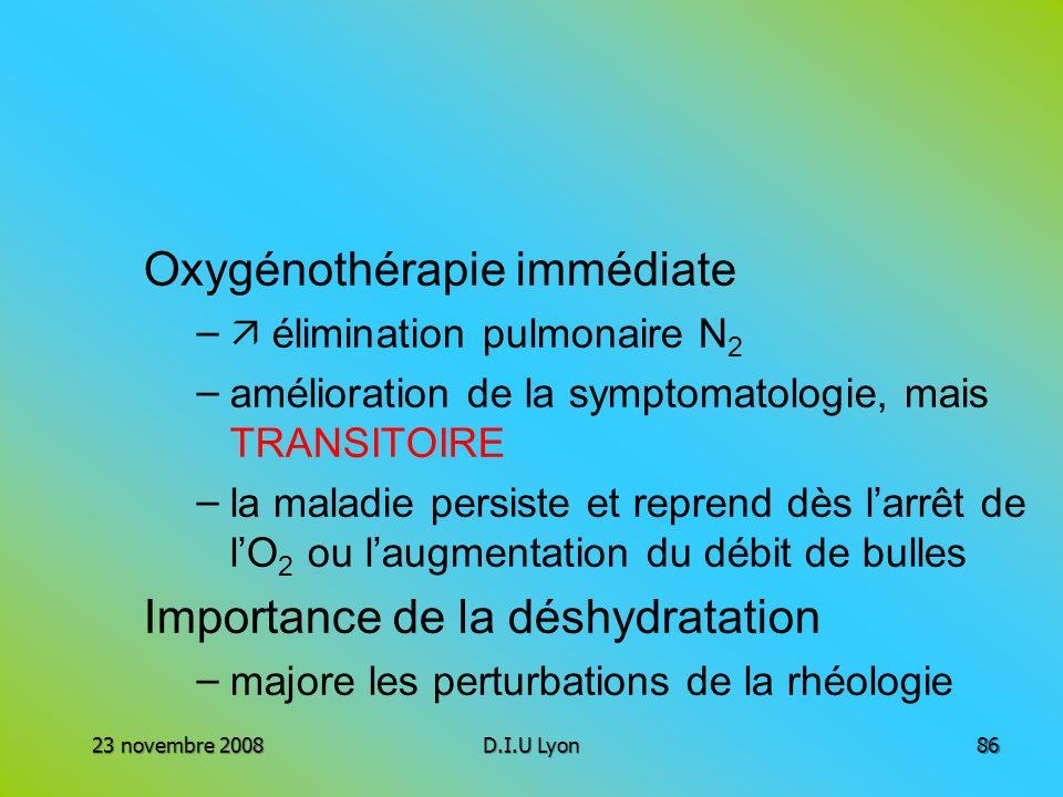 Oxygénothérapie immédiate