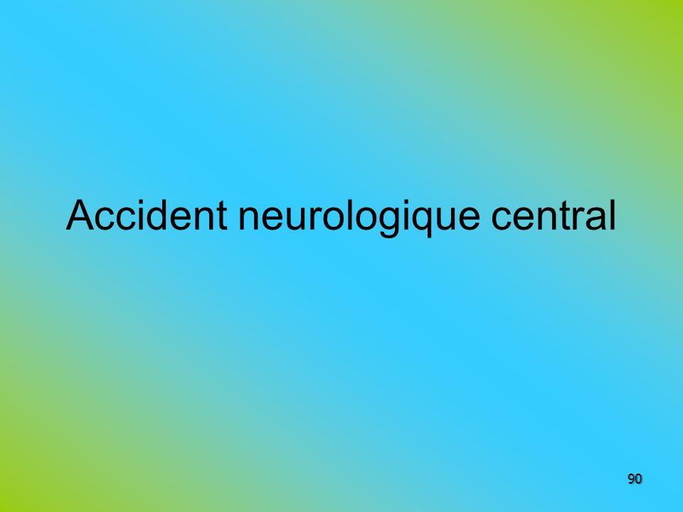 Accident neurologique central