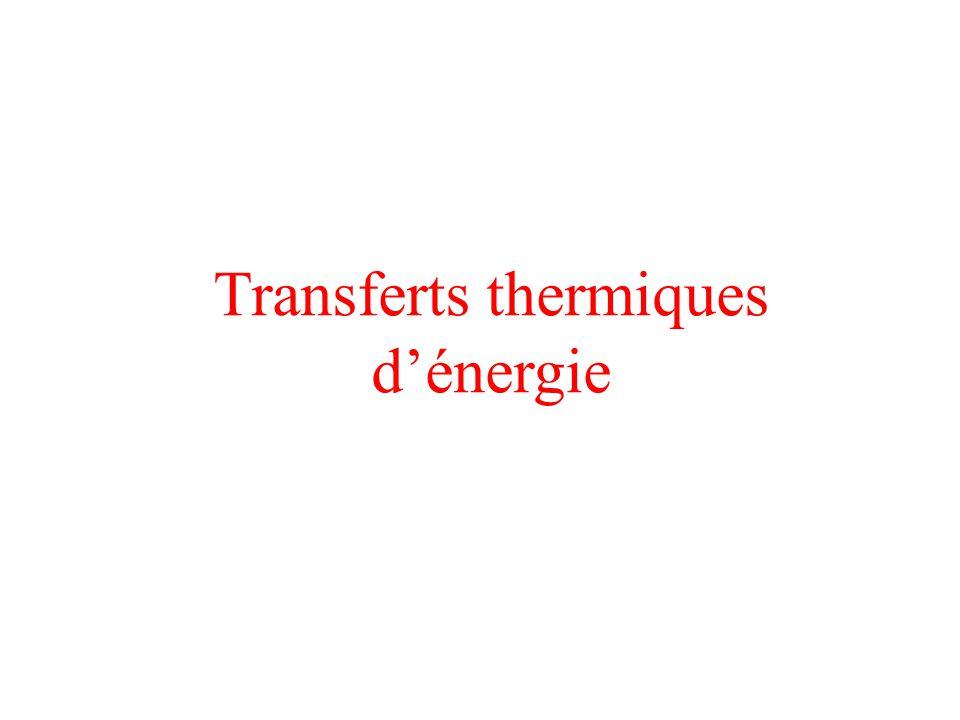 Transferts thermiques d'énergie