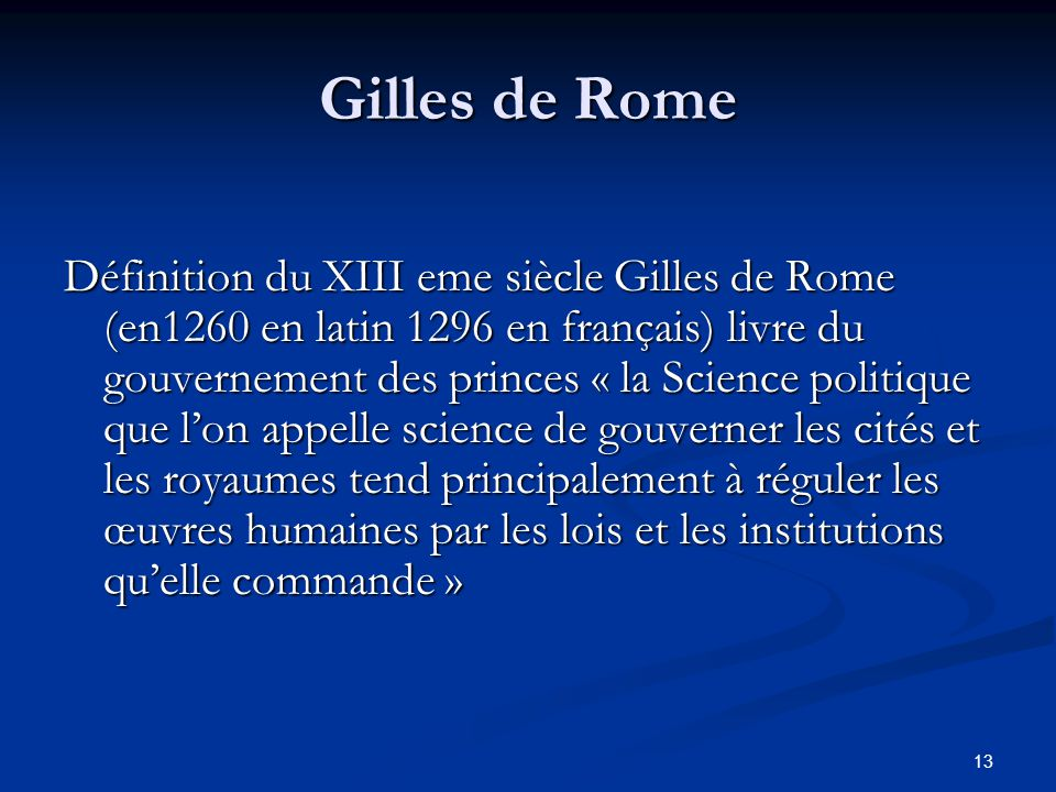 Gilles de Rome