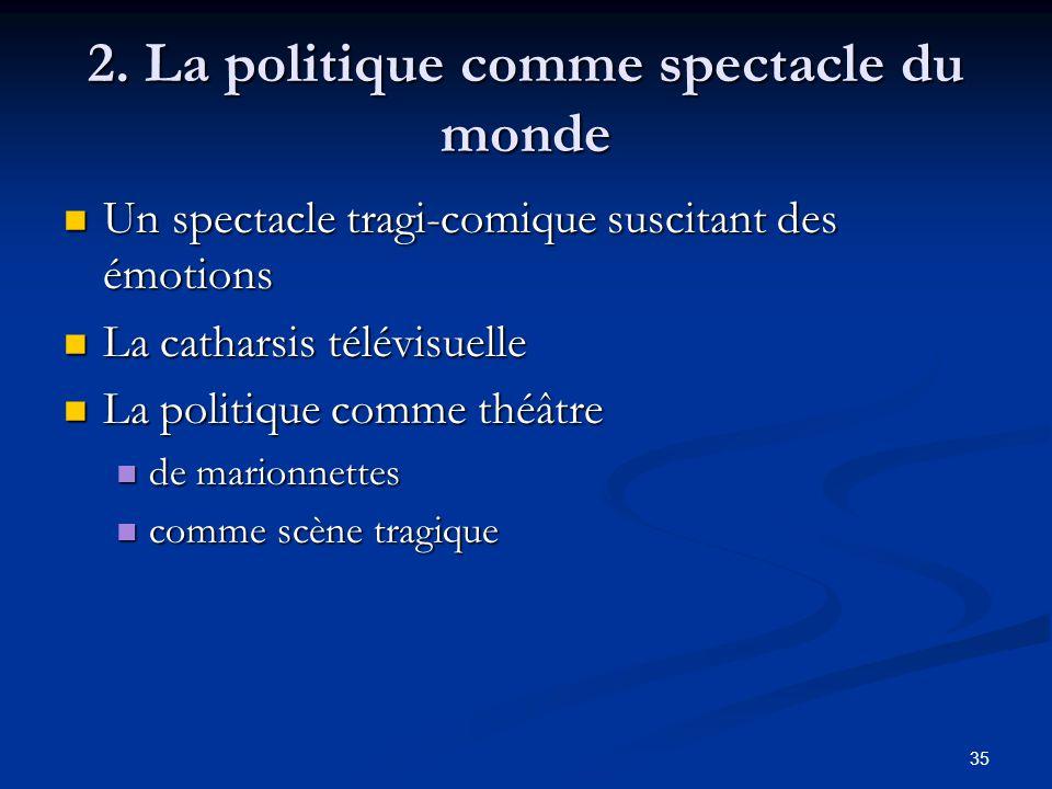 2. La politique comme spectacle du monde