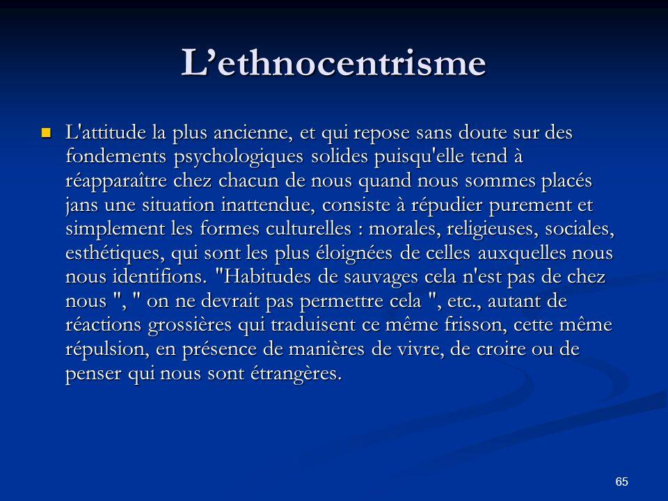 L'ethnocentrisme