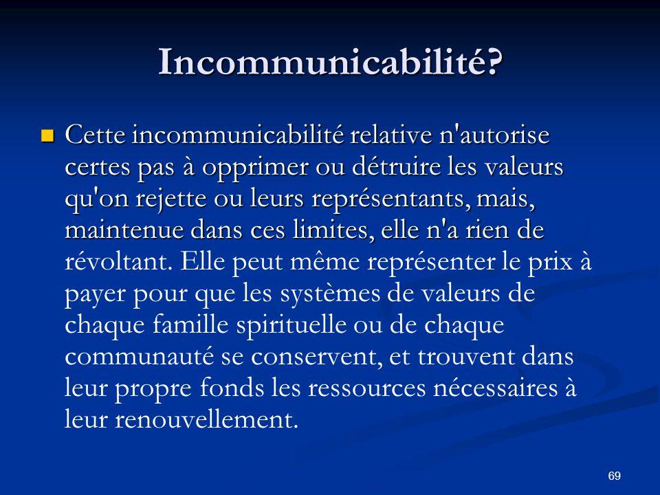 Incommunicabilité
