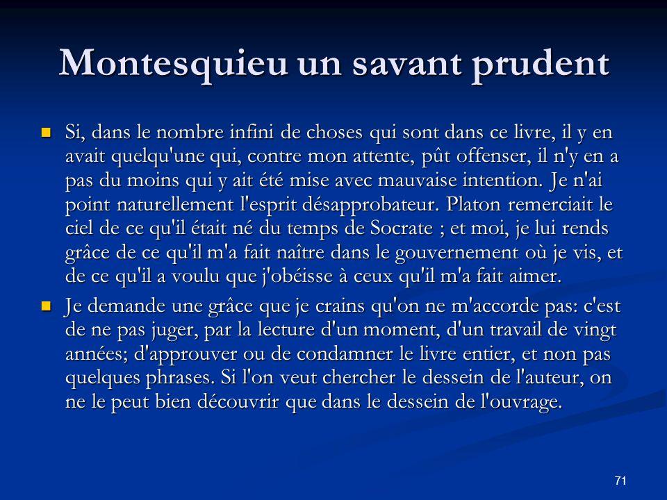 Montesquieu un savant prudent