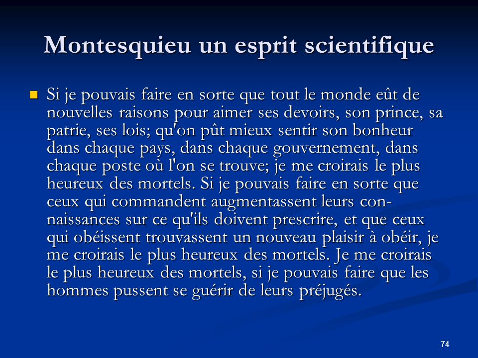 Montesquieu un esprit scientifique
